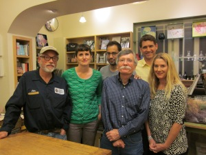 With D. A. Powell, Don Bogen, Kathleen Winter, Randall Mann, and Geoffrey Brock at Mrs. Dalloway's